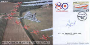 CC43c Red Arrows Avro Vulcan RAF FDC signed Paddy Hine