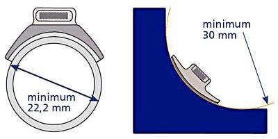 YKK SNAD Flex Push & Revolving Fastener 25mm Transparent