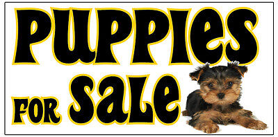 Puppies For Sale Vinyl Banner Advertising Sign. Full Color 2x4 Ft 2x6 3x10