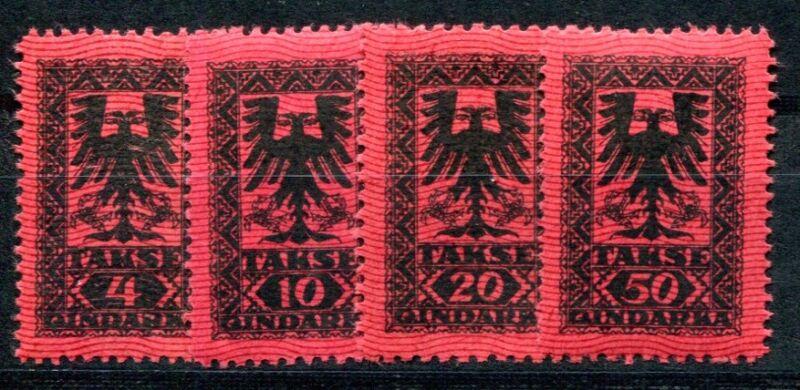 ALBANIEN PORTO 1922 18-21 ** POSTFRISCH TADELLOS SATZ (I2048