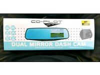 CoPilot Rearview dash camera front and rear cameras motion sensors