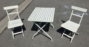 IKEA Malaro Outdoor Table and 2 chairs