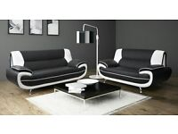 LEATHER SOFA SET 3&2 OR CORNER COUCH