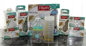 Playtex Drop-Ins Bottles - All New In Unopened Packages + Extras