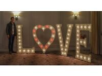 Wedding and Event Venue, Letter Lights