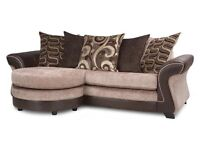 DFS Cushion back sofa - includes footstool and stain insurance