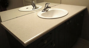 Bathroom Countertop with Sink & Faucet