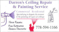 Darren's ceiling repair & painting service