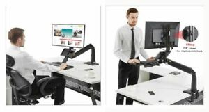 PC Sit/Stand Workstation Solution | North Bayou FC35-B