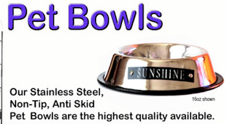 NEW CUSTOM NAME PERSONALIZED STAINLESS STEEL PET FOOD BOWL WITH NAME PLATE