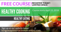 FREE - Healthy Vegetarian Cooking Course!