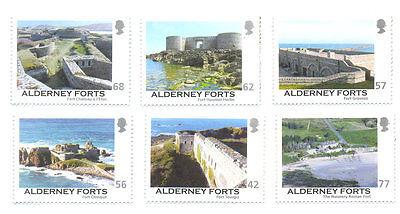 Alderney Forts (22.7.2015)mnh set of 6- Military