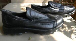 Ladies black leather walking shoe size 8 - never worn