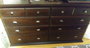 Wood dresser and side table