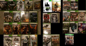 X360 FPS Games XBOX 360 Shooter games (Various Prices)