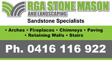 Sandstone Retaining walls by professional Stone Masons Granville Parramatta Area Preview