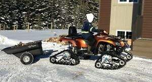 """2011 Arctic Cat 550 TRV Low KMs with Tracks and 60""""Blade"""