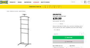 IKEA GRUNDTAL Valet Stand for sale
