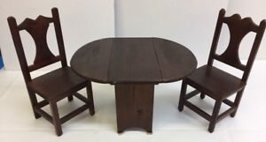 Small drop leaf table and chairs