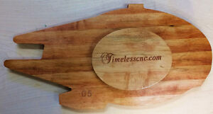 Star Wars Falcon inspired Cribbage Board carved in solid wood Strathcona County Edmonton Area image 4