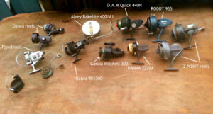 Lot Collection of 11 Vintage Fishing Reels