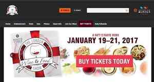 The London Wine And Food Show Book Of 4 Tickets 40.00