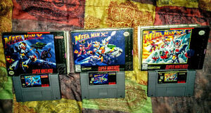 Mega Man X Series COMPLETE for SNES X and X2 MINT X3 8/10