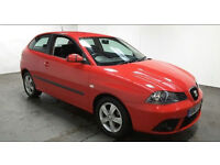2007(07)SEAT IBIZA 1.2 SPORT BRIGHT RED,ALLOYS,LOW INSURANCE,GREAT VALUE
