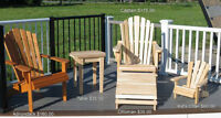 Local Hand-Made Cedar Outdoor Furniture