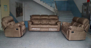 BLACK FRIDAY  3 PC FURNITURE COUCH LOVESEAT RECLINER LIVING ROOM