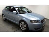 2004(54)AUDI A3 SPORT 2.0 TDi MET BLUE,NEW MOT,6 SPEED,CLEAN CAR,GREAT VALUE