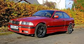 Rare Sierra Red Restored BMW E36 318is manual 1998 only 98k miles M5 style alloys