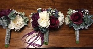 Plum Colored Wedding Bouquets