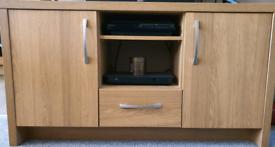 Oak Storeage or TV unit