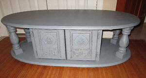 Awesome vintage wood coffee table with storage