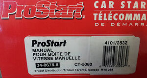 NEW Prostart remote starter (manual trans) CT-5060 BNIB