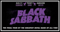 BLACK SABBATH x1 ~  TUESDAY FEBRUARY 23rd ~ 7 ROWS FROM STAGE ~