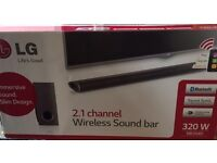 LG 2.1 channel Wireless Sound Bar