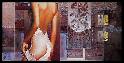 David Graux Parure Suave Poster Bild Kunstdruck im Alurahmen in schwarz 50x100cm