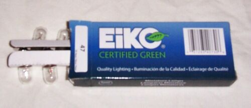 10 #47 Eiko Clear Miniature Light Bulbs Lamps For Pinball Machines & More New!