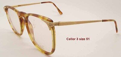 NEW VINTAGE RATTI PERSOL CELLOR 3 HAVANA TORTOISE  and GOLD FRAME SIZE 51