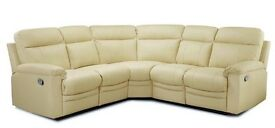 New Paolo Manual Recliner Corner Sofa - Ivory