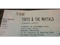 1 x Ticket for Toots and The Maytals CARDIFF