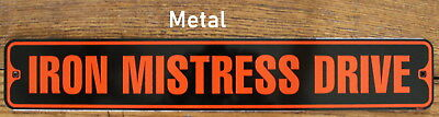 Metal Street Sign Iron Mistress Harley Davidson Biker Cave Bar Decor 3