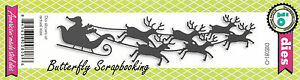 Christmas-Sleigh-American-made-Steel-Dies-by-Impression-Obsession-DIE081-O-New