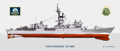 USS	Connole	FF-1056 Ship Print US Navy