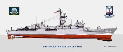 USS	Marvin Shields FF-1066 Print US Navy