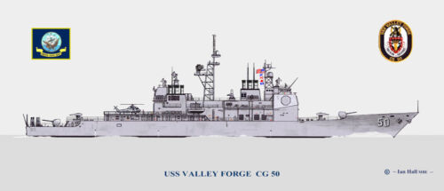USS Valley Forge CG 50 Ship Print US Navy
