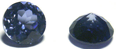 Nice 8 mm Round Brillant Light Blue Created Sapphire