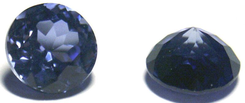 Nice 8 mm Round Brillant Light Blue Created Sapphire